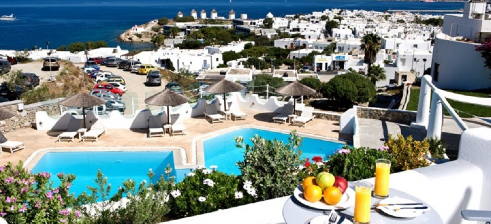 mykonos hotels with free parking